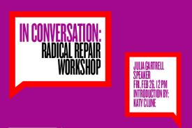 Image of Julia Gartrell inside the Radical Repair Workshop