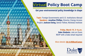 Policy Boot Camp: Foreign Governments and U.S. Institutions Abroad; Friday, March 19, 3-4 p.m.