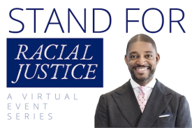 PHOTO: Rev. Dr. Starsky Wilson: Please join the Sanford School of Public Policy and Duke's Center for Child and Family Policy for the Spring 2021 Stand For Racial Justice virtual event featuring the Rev. Dr. Starsky Wilson on Thursday, March 25.