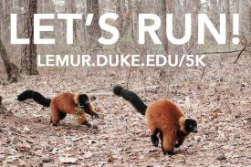Duke Lemur Center Stay Away 5K April 24-25