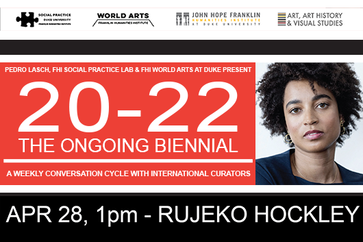 Rujeko Hockley at 20-22 The Ongoing Biennial Event Poster