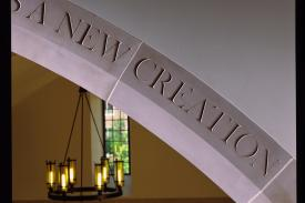 New creation engraving in Duke Divinity School
