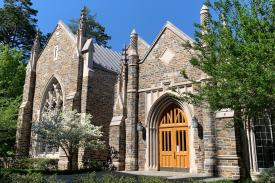 Entrance to Westbrook Building at Duke Divinity School