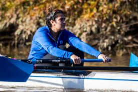 rower relaxed in scull